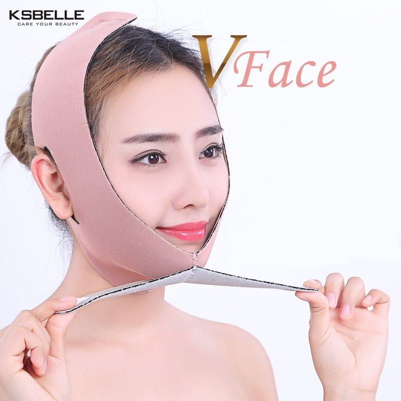 All size type Face Lift Up Belt Thin Face Mask Slimming Facial Thin Masseter Double Chin Skin Care Thin Face Shaper Bandage Belt
