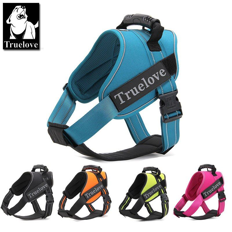 Truelove Firm Pet Dog Harness with Heavy Duty Handle No Pull Pet Dog Training Vest Nylon Chest strap for dog collar 5 color