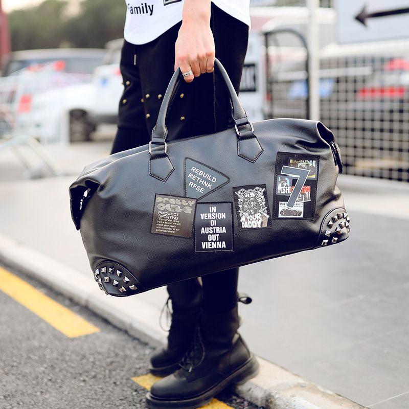 Tidog korean fashion tide cortex leisure high-capacity travel bag