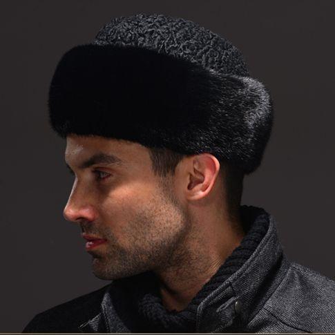 HM037 Real echter nerz mit wolle hut winter Russische männer warm caps ganze stück nerz schafspelz hüte
