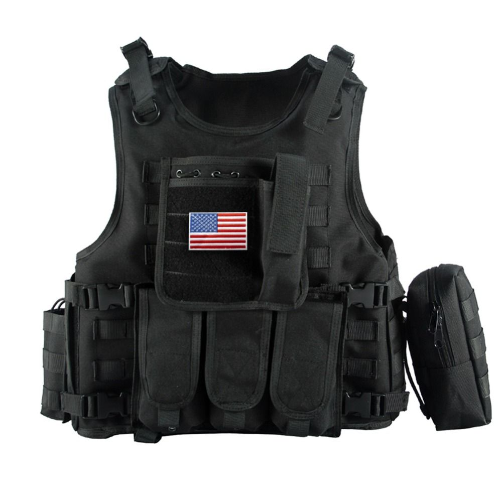 2016 Military Tactical Vest Camouflage Body Armor Sports Wear Hunting Vest Army Molle police bulletproof Vest Black
