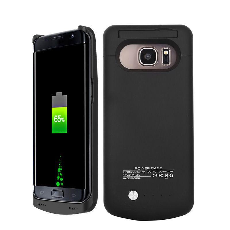 S7 Externe Cas de Chargeur de Batterie Pour Samsung Galaxy S7 Bord Batterie de secours Cas Banque de Puissance Couvercle de Charge pour Samsung Galaxy S7