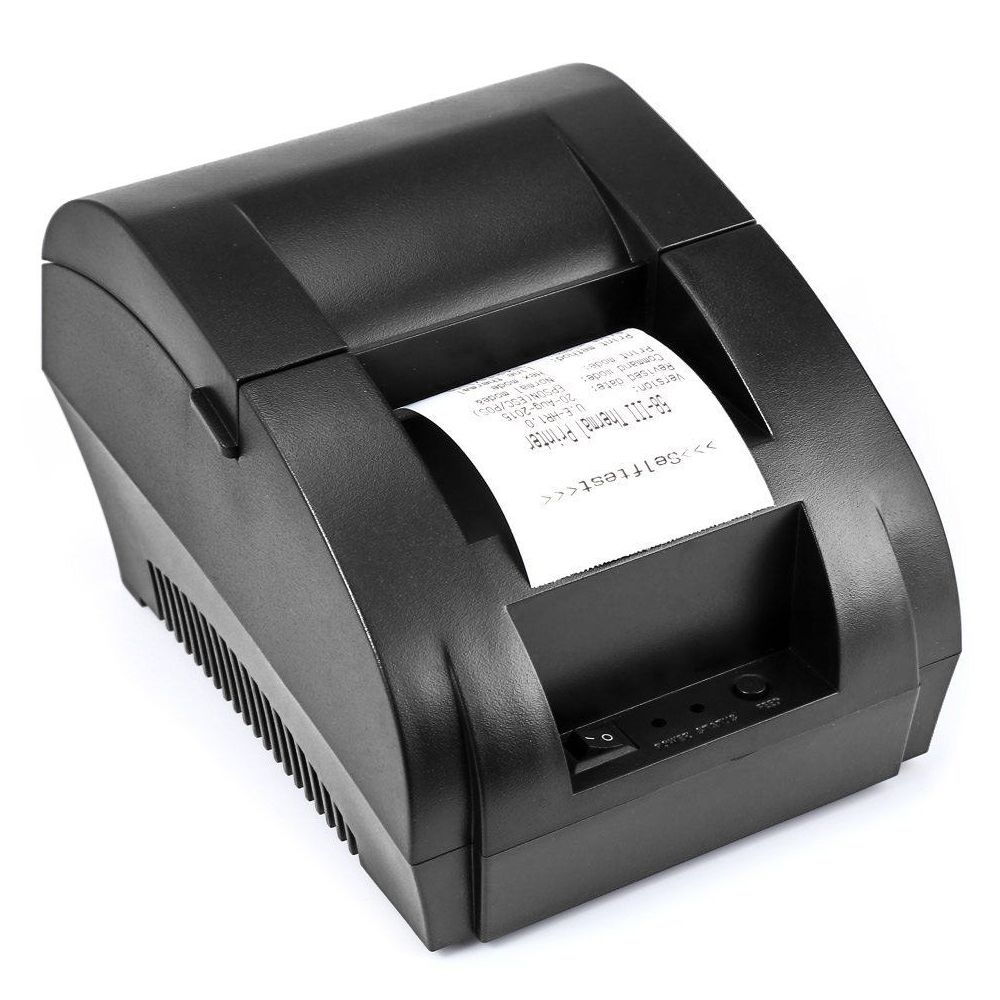 ZJ 5890K 58mm POS Thermal Receipt Bill Printer Universal Ticket Printer Support cash drawer driver Dot-matrix