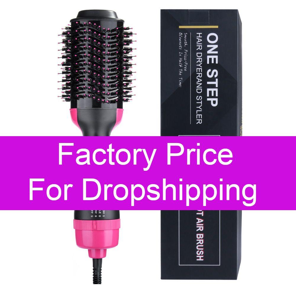 Prix usine professionnel une étape sèche-cheveux brosse volumizer 2 en 1 lisseur et bigoudi Air chaud fer à friser pour laisser tomber