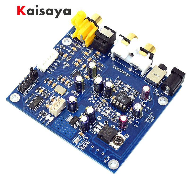 ES9038 Q2M I2S DSD Optical Coaxial Input Decoder DAC 3.5mm Headphone Output HIFI Audio amplifier Board A4-004