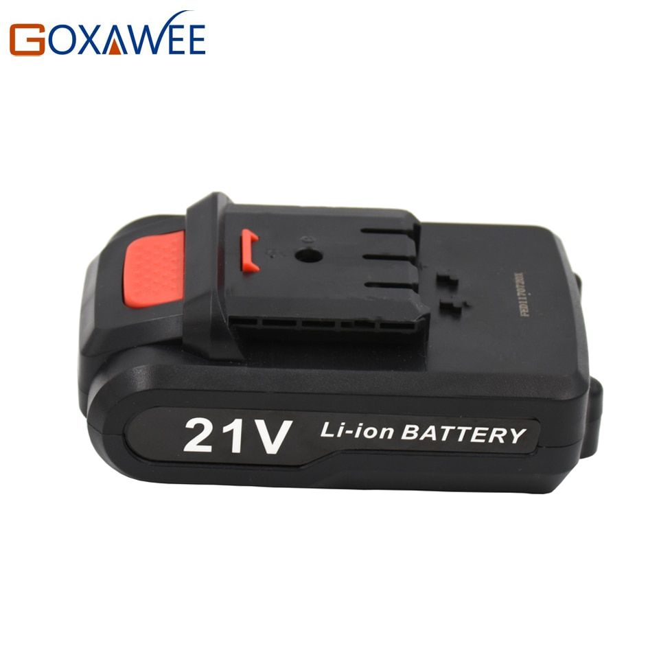 GOXAWEE 12V 16.8V 21V Cordless Rechargeable Lithium Battery For Electric Drill Screwdriver Power Tool Extra Lithium Battery