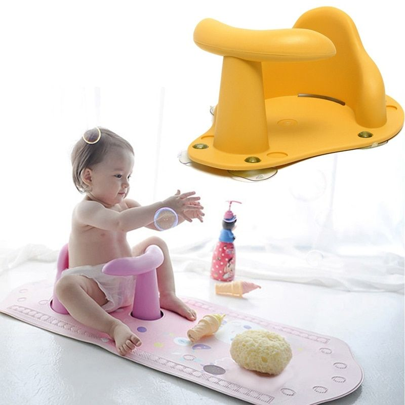 4 <font><b>Colors</b></font> Baby Child Toddler Kids Anti Slip Safety Chair Bath Tub Ring Seat Infant Green / Pink / Blue / Yellow