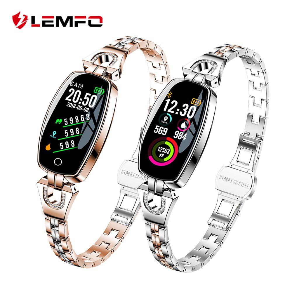 LEMFO H8 montre intelligente femmes 2018 étanche surveillance de la fréquence cardiaque Bluetooth pour Android IOS Fitness Bracelet Smartwatch
