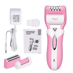 3 In1 Перезаряжаемые женский бритва для бритья удаления волос бритвы Braun женские Триммер Эпилятор для лица, тела, ноги, подмышек 47