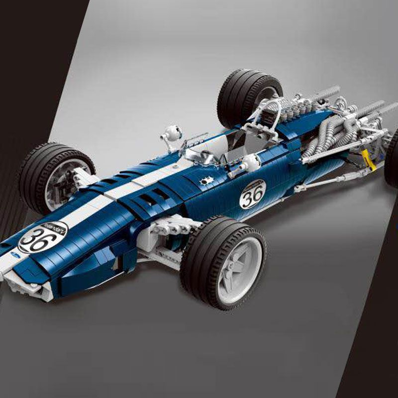 DHL 1758PCS the Blue F1 Racing Car Set Building Blocks Bricks Educational Funny Toys Compatible Legoings Technic Kids Gift