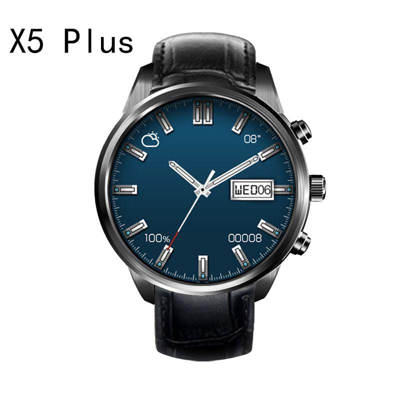 FINOW X5 Plus x5Plus 3G Smartwatch Téléphone Android 5.1 GPS MTK6580 Quad Core 1 GB/8 GB WiFi Bluetooth PK LEM5 Montre Smart Watch pour IOS