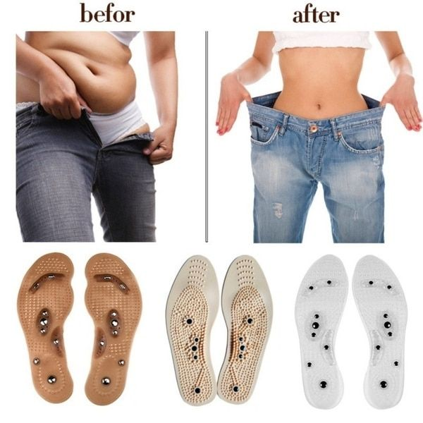 3Pairs Shoe Gel Insoles Feet Magnetic Therapy Health Care for Men Comfort Pads Foot Care Relaxation Gifts Foot Massager