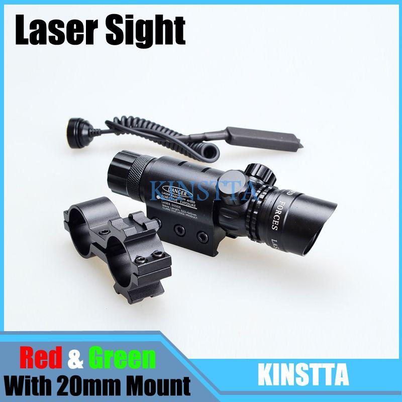 KINSTTA Tactical Green / Red Dot Laser Sight Scope Designator Emitter Airsoft Rifle Gun Laser Scope For Airsoft Hunting CS Game