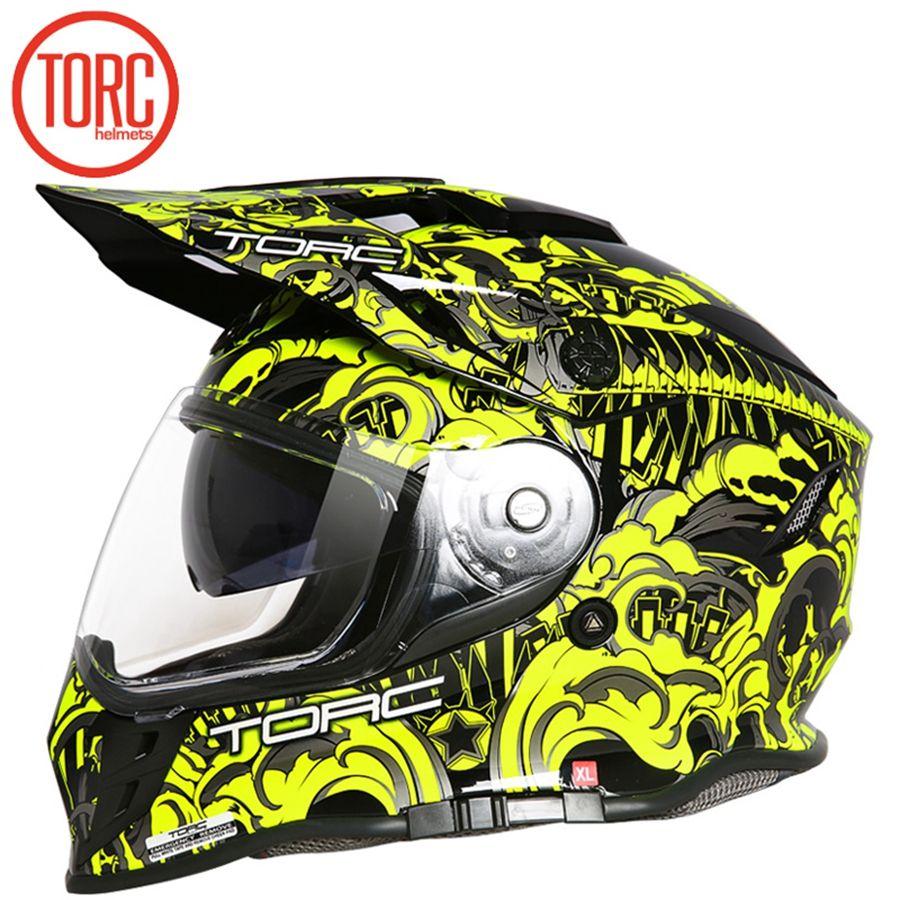 Free shipping 1pcs DOT Carbon Fiber Modular Off Road Racing Moto helmet Flip Up ABS ECE Dual Visor Full Face Motorcycle Helmet