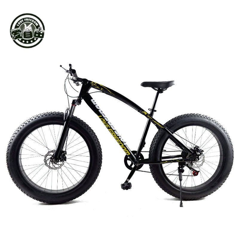 Love Freedom Hot Sale 7/21/24/27 Speed Snow Bike 26-inch 4.0 Fat Bicycle Mechanical disc brake Mountain Bike Free Delivery