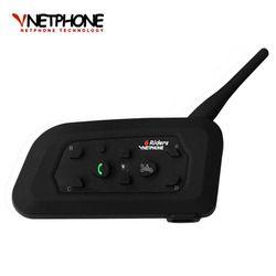 V6 Bluetooth Intercom Motorcycle Helmet Accessories Speaker 1200m 6 Riders Interphone Headset Support BT Wireless Mp3 Music GPS