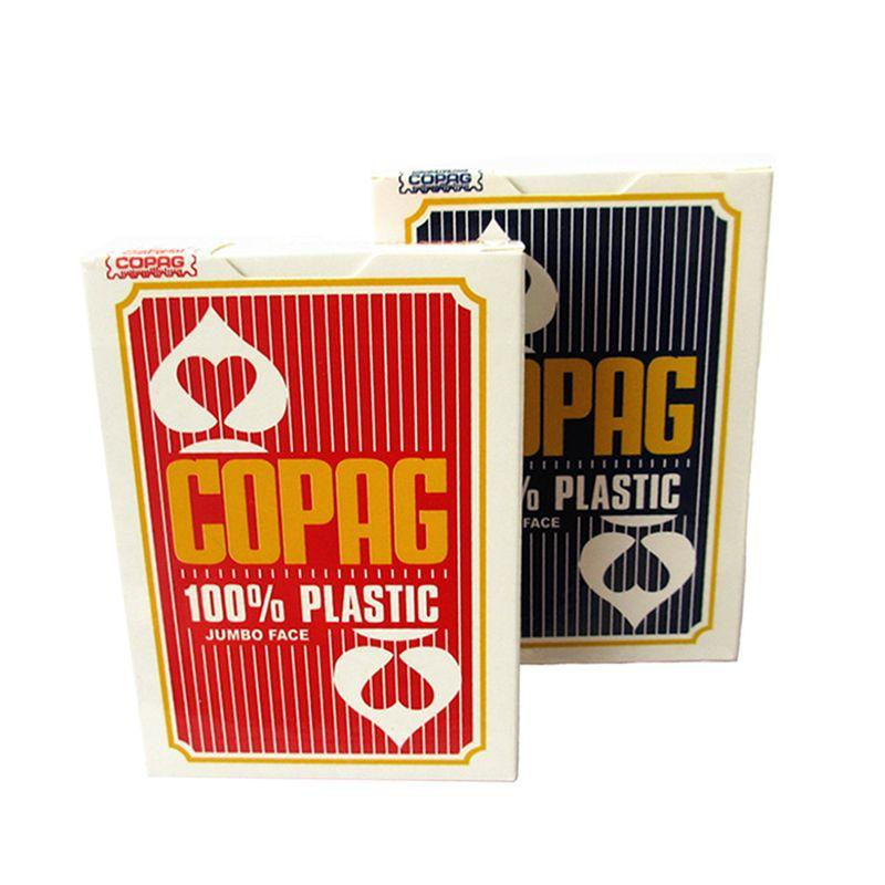 Copag cartes à jouer en plastique 88*63mm Jumbo Face belgique cartes de Poker accessoire de Casino