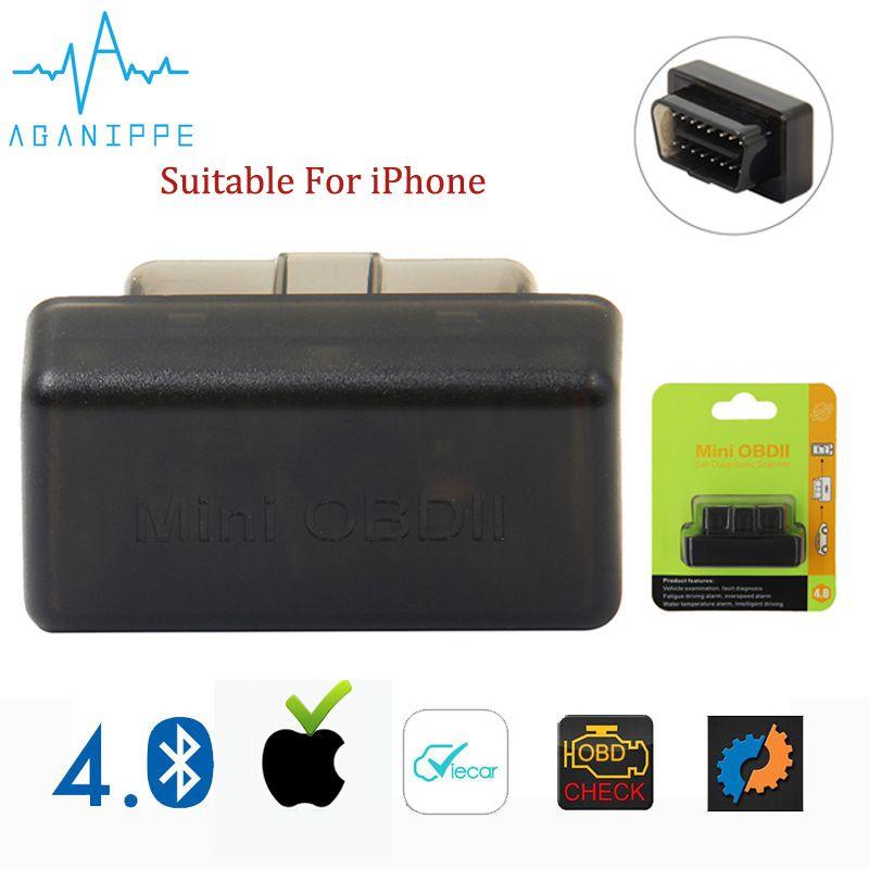 Scanner automatique Aganippe ELM 327 Bluetooth OBD2 Mini ELM327 OBD 2 adaptateur Bluetooth eml327 outil de Diagnostic de voiture pour iPhone/Android