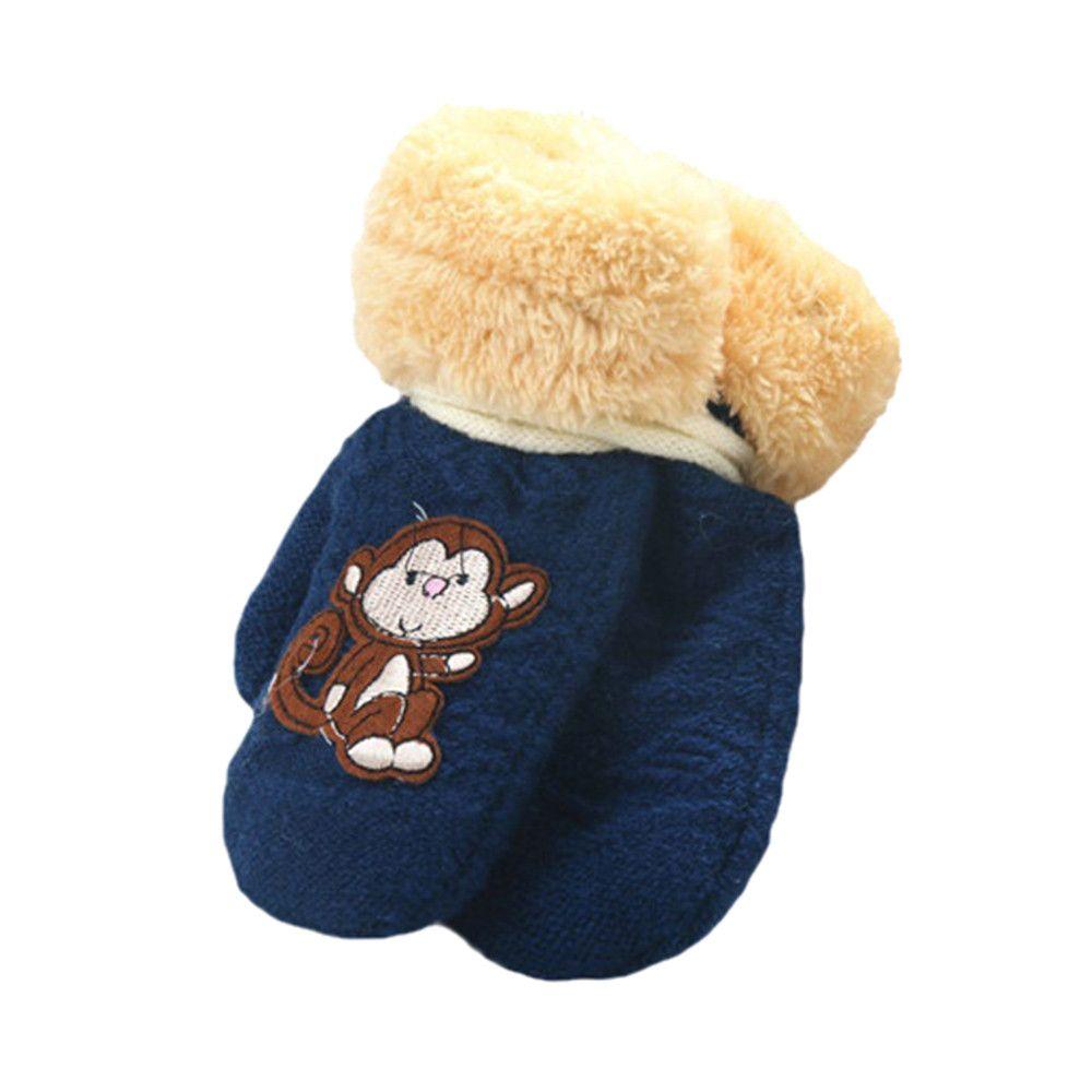Schnee Handschuhe Kinder Cartoon Affe Handschuh Kinder Stricken Acryl Warme Winter Handschuhe für 1 T bis 8 T Winter Handschoenen #9025