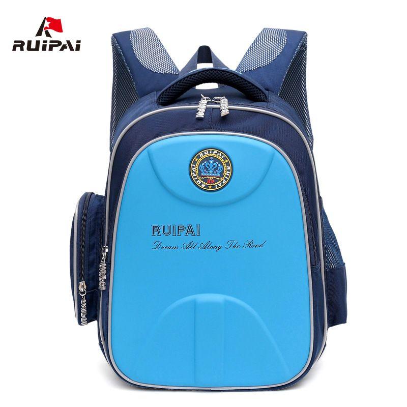 RUIPAI Kids Baby's School Bags Hard Shell Waterproof Backpack Schoolbags Orthopedic Shoulder Bags For Boys Students Rucksack