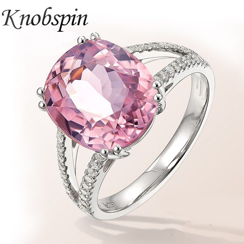2018 New Arrival European Fashion Pink Zircon Crystal Women Ring Luxury Engagement Wedding Ring Fashion Party Jewelry Size 6-10