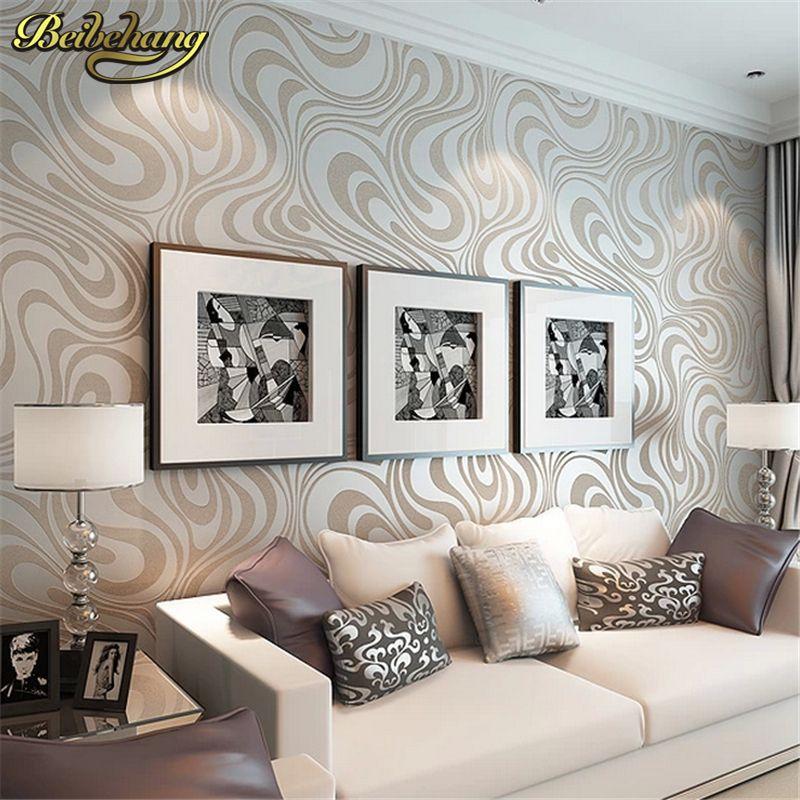 Beibehang высокое качество 0.7 м * 8.4 м Современная роскошь 3d обоев росписи Papel де Parede стекаются для в полоску обои