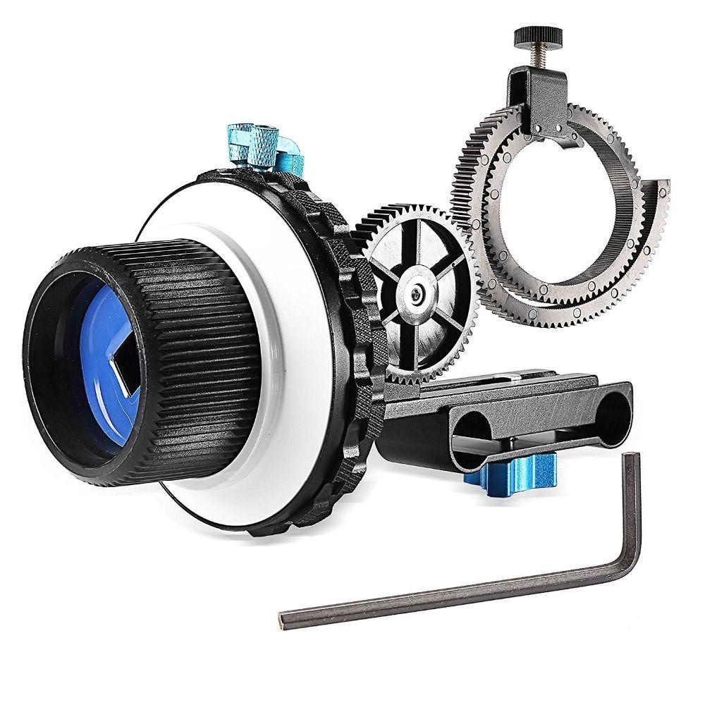 Neewer AB Haltestelle Schärfen C2 mit Zahnkranz Gürtel für Nikon/Canon/Sony DV/Camcorder/Film/Videokameras Passt 15mm Stange Halterungen