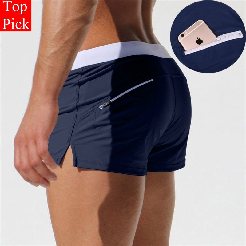 TOPPICK New Swimwear men swimsuit Sexy swimming trunks sunga hot mens swim briefs Beach Shorts mayo sungas de praia homens