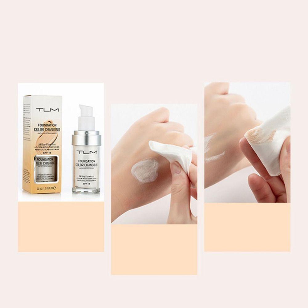 Pro Color Changing Foundation Makeup Base Nude Face Liquid Cover Concealer Longlasting Makeup Gift sombras Skin care Foundation