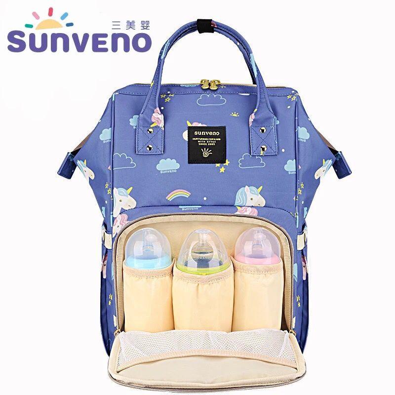 Sunveno Baby Care Bags Fashion Unicorn Maternity Daper Bag Mummy Nappy Backpack Travel Stroller Organizer Nursing Bag Waterproof