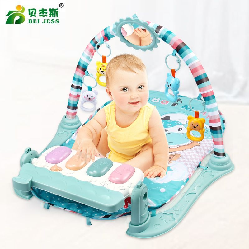 BEI JESS Baby Play Mat 3 in 1 Multifunction Piano Carpet Develop crawl Mat child Music Rattle Growing Educational Toy