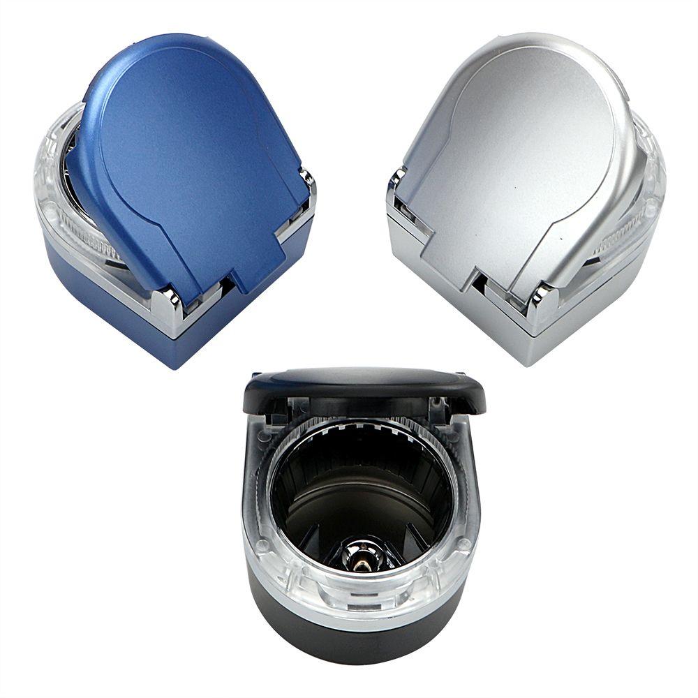 Car styling Smoke Ash Cylinder Storage Cup Cigar Ash Tray Car Accessories Portable LED Car Ashtray Smoke Cup Holder