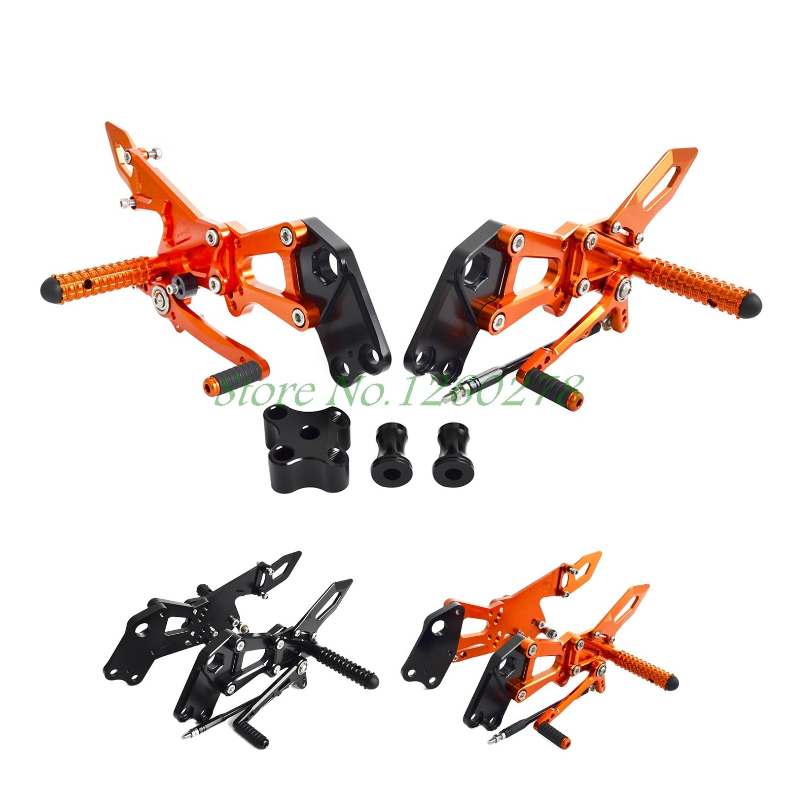 Motorcycle Rearsets Footrest Peg Rear Set For KTM RC 125 200 390 2014 2015 2016 2017 RC125 RC200 RC390