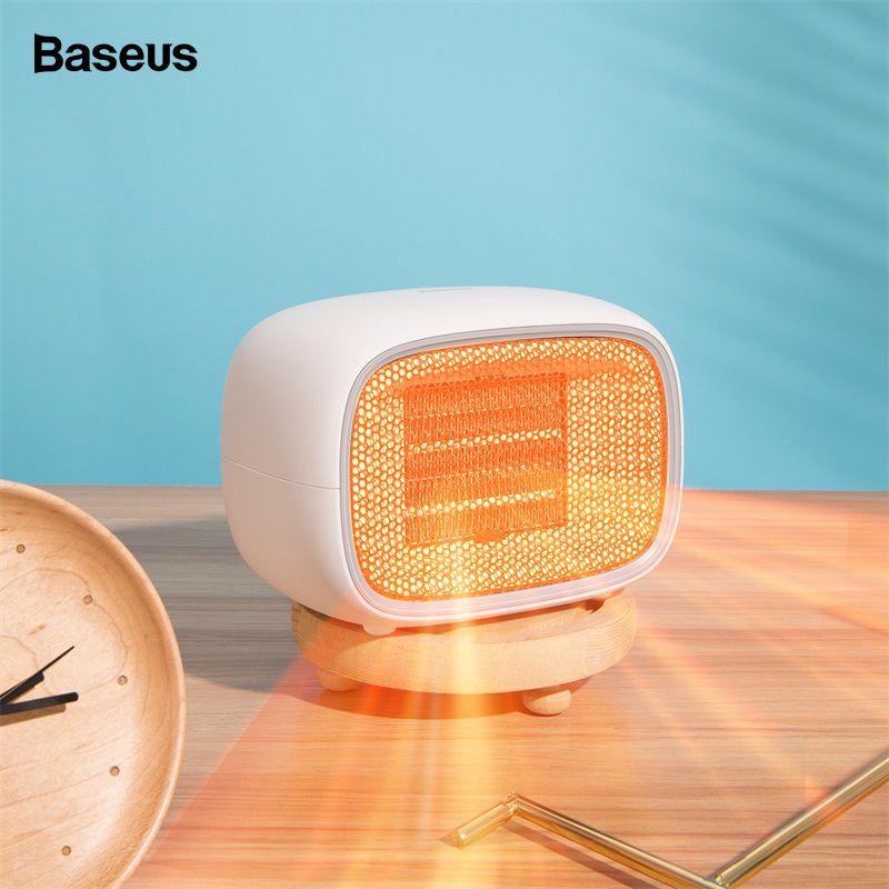 Baseus 500 W Elektrische Mini Fan Heizung Desktop Haushalt Praktisch Heizung Heizung Herd Kühler Wärmer Maschine Für Winter Home Office