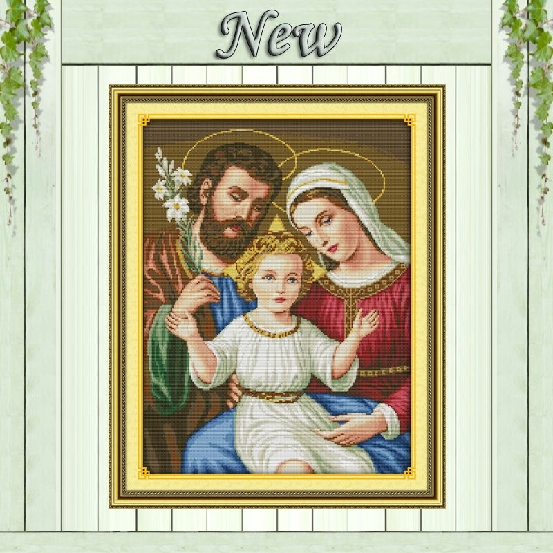 Jesus family Christian home decor paintings counted printed on canvas DMC 11CT 14CT kits Cross Stitch embroidery needlework Sets