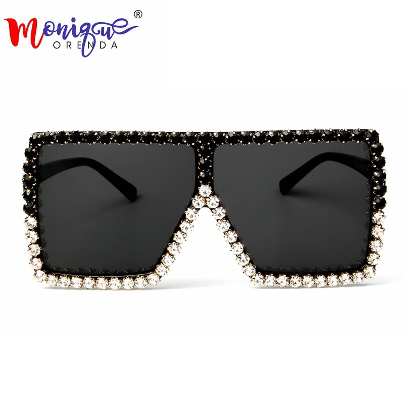 Oversized Sunglasses Women 2018 Luxury Rhinestone Sunglasses Brand Designer Vintage Fashion Shades Gafas Oculos de sol
