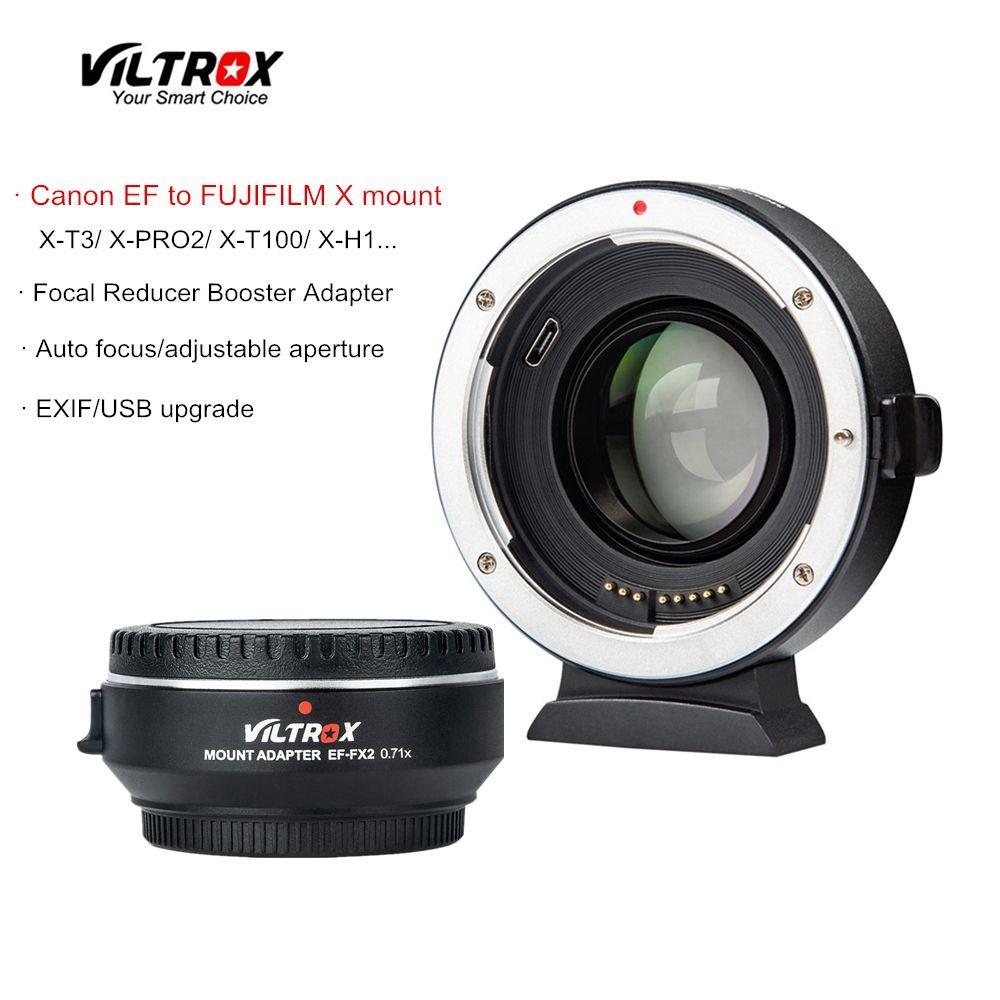 Viltrox EF-FX2 Focal Reducer Booster Auto-fokus objektiv Adapter 0.71x für Canon EF objektiv zu FUJIFILM X-T3 X-PRO2 X-T100 x-H1 X-A20