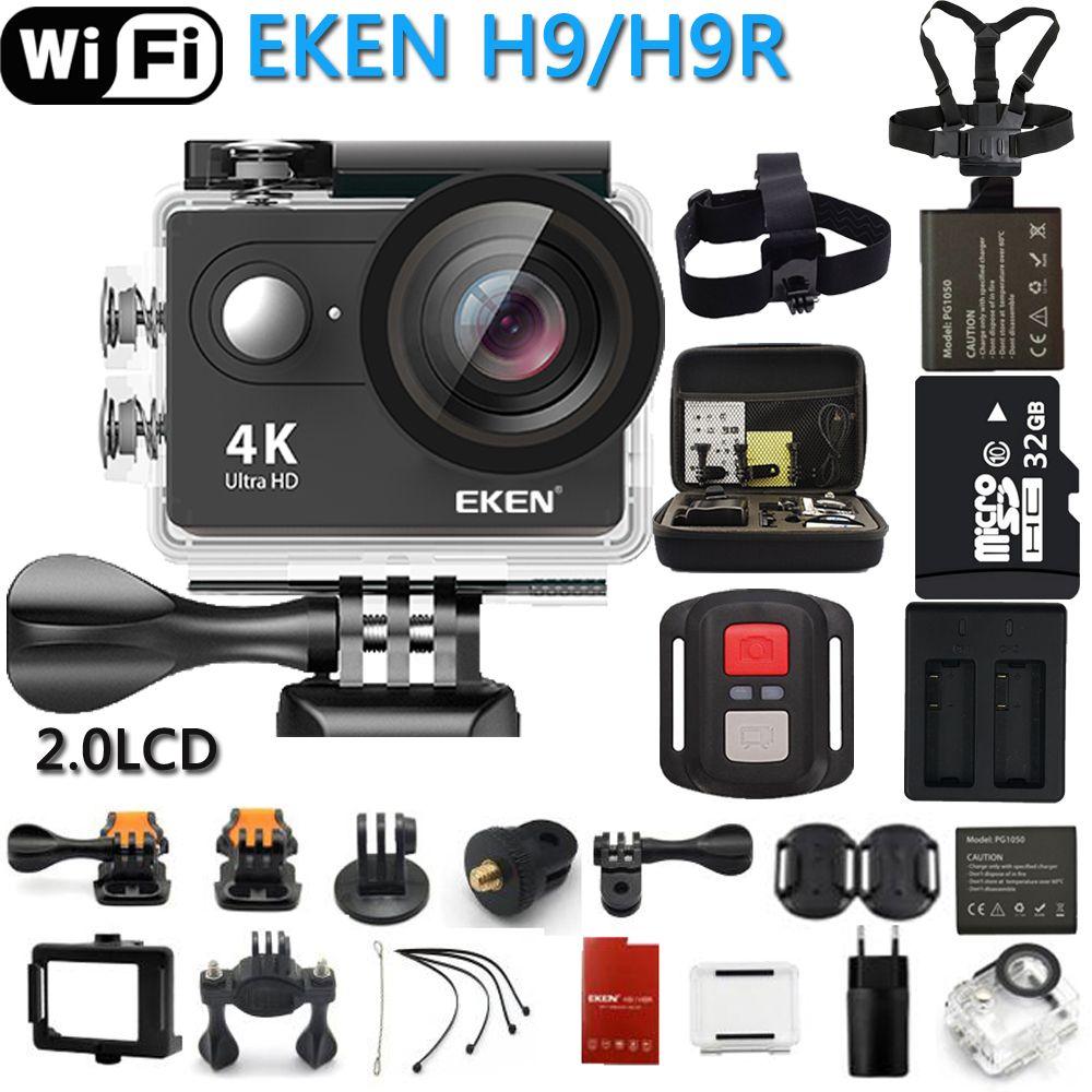 D'origine EKEN caméra d'action eken H9R/H9 Ultra HD 4 K WiFi télécommande Sport Vidéo Caméscope DVR DV aller Étanche pro Caméra