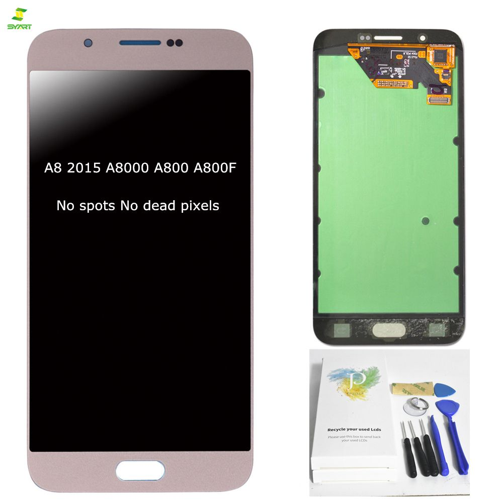 A8 A8000 A800 2015 Original 5,7 ''Für Samsung A8 2015 A8000 A800 A800F Volle LCD Display Touchscreen Digitizer montage Schwarz