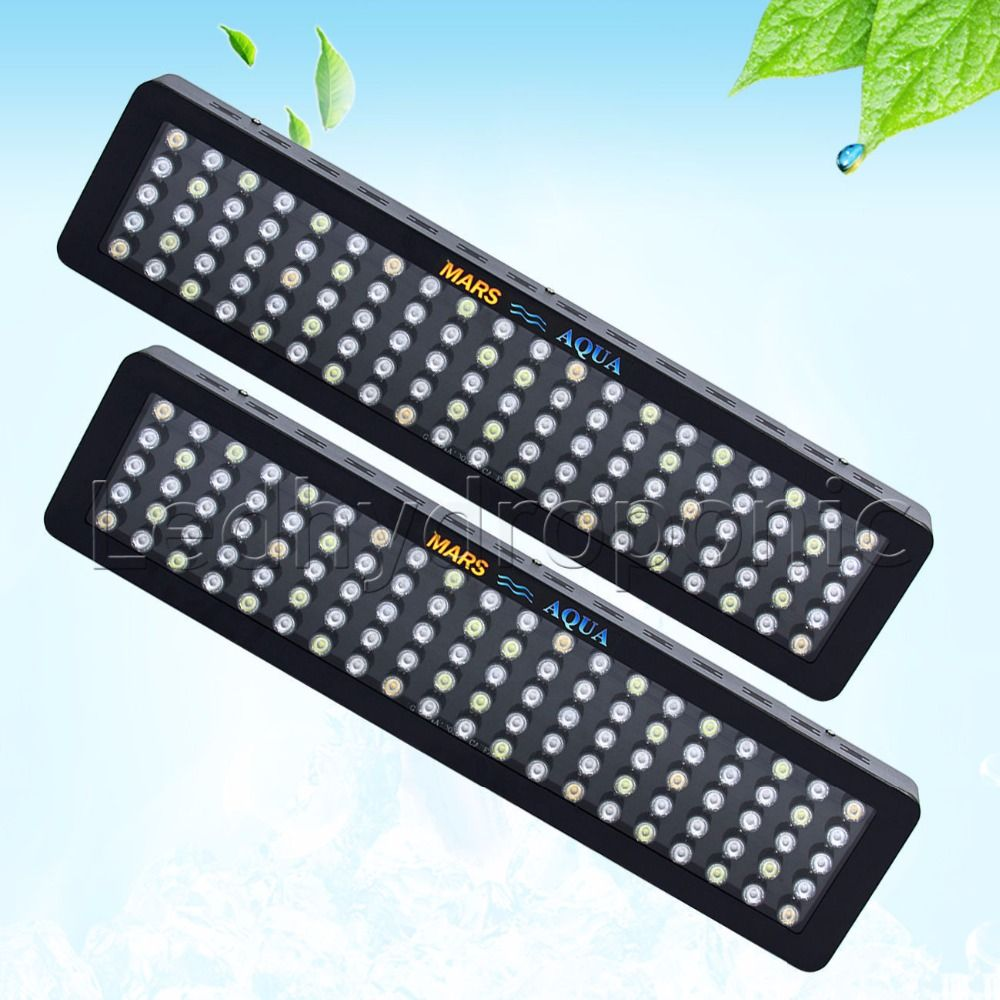 2pcs MarsHydro Dimmable 300W Aquarium Led Light,Full Spectrum 3W Single Chips for Coral Reef