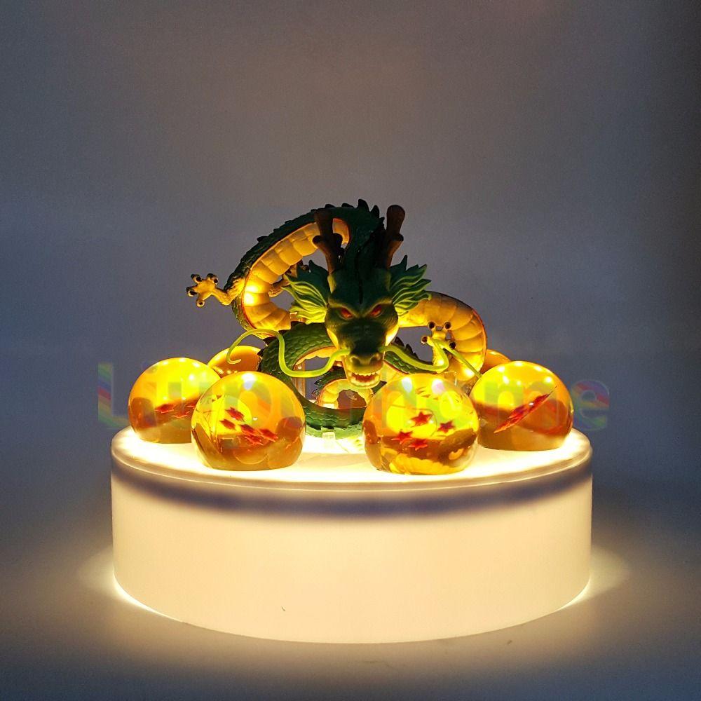 Аниме Драконий жемчуг Z shenron хрустальный шар led комплект Dragon Ball Супер Сон Гоку светодиодный ночник лампа для Домашний Декор