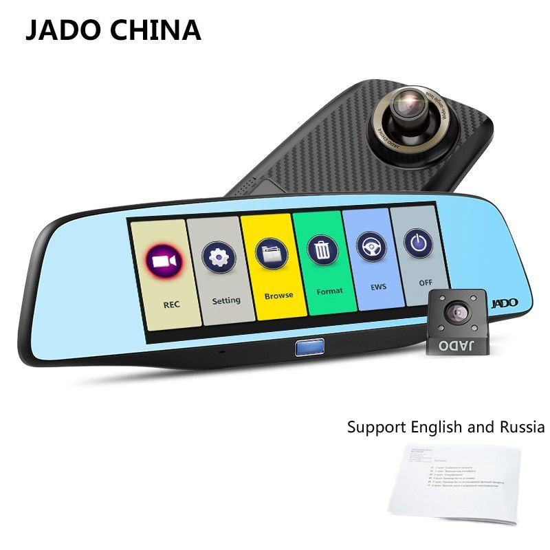 JADO D680S Car Dvr Camera Full HD 1080P Car Dvrs Dual Lens Recorder 6.86' Car Camera Dash cam ADAS Rearview Mirror Registrar