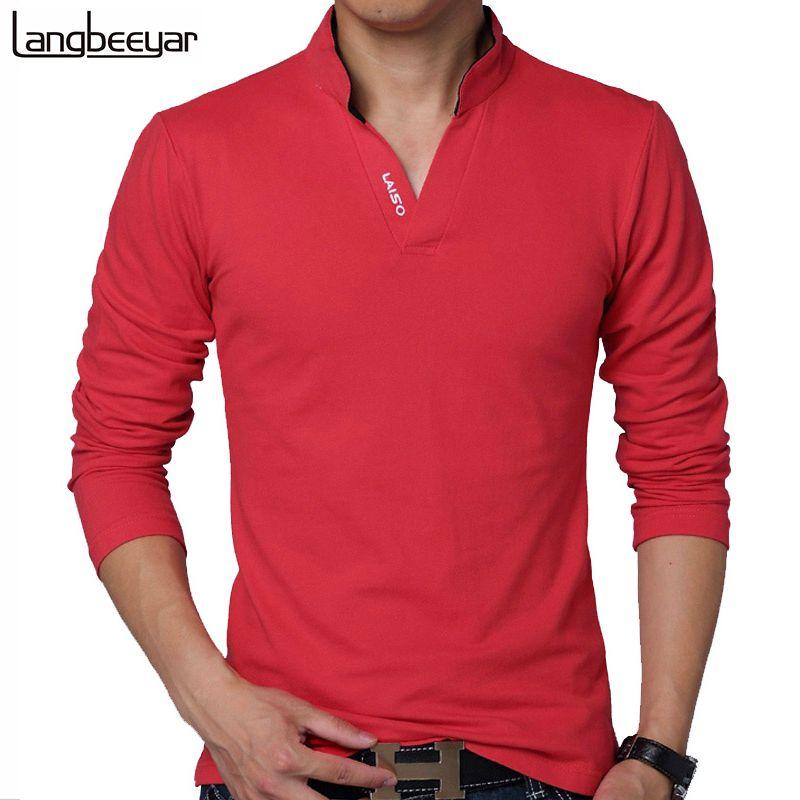 HOT <font><b>SELL</b></font> 2018 New Fashion Brand Men Clothes Solid Color Long Sleeve Slim Fit T Shirt Men Cotton T-Shirt Casual T Shirts 4XL 5XL