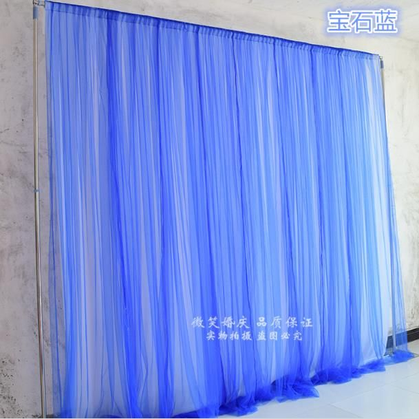 New Pure Tulle Ice Silk Two Layer Wedding Backdrop 3m*3m High Quality Wedding Supplies Curtain for wedding Decorations