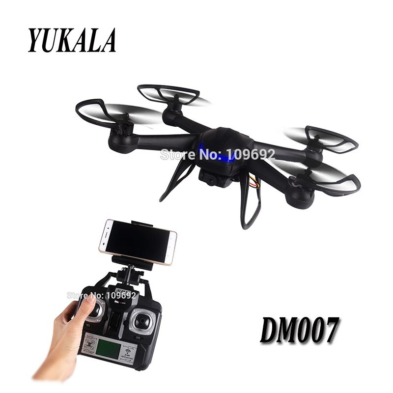 2.4G Helicopter UAV DM007 DM007W RC drones Aerial Aircraft HD 2MP Pixel Camera WIFI FPV Four Axis Aircraft toys for children