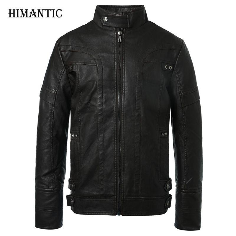 Мотоцикл Кожаные куртки Для мужчин осень-зима кожа Костюмы Для мужчин Кожаные куртки мужской Бизнес Повседневная Пальто для будущих мам Фи...