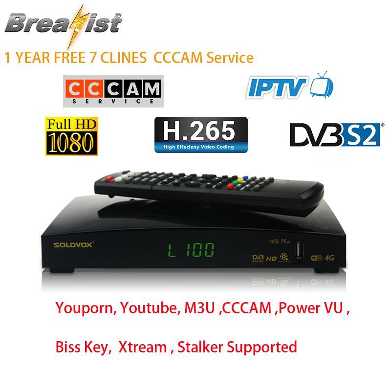 Solovox V8S DVB S2 tv numérique récepteur satellite HD MPEG4 H.265 1080 P Set Top Box pour Européenne ROYAUME-UNI Espagne Portugal Français néerlandais