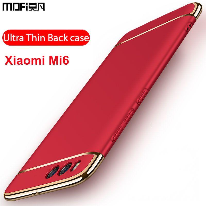 Xiaomi mi6 cas xiaomi 6 couverture de cas de scintillement de luxe 3 en 1 armure de protection caps retour dur mofi xiaomi mi 6 xiaomi cas du mi6
