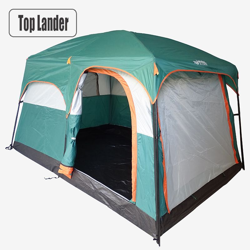 4-6 Person Large Family Camping Tents Waterproof Double Layer Outdoor Party Two Bedrooms Windproof 4 Season Beach Cabin Tent