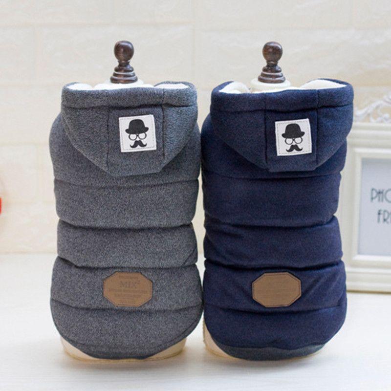 Schnurrbart Kapuze Haustier-hund Kleidet Für Kleine Hunde Hund Mantel Jacke Baumwolle Zwei Beine Welpen Chihuahua Kleidung Bekleidung Kostüm